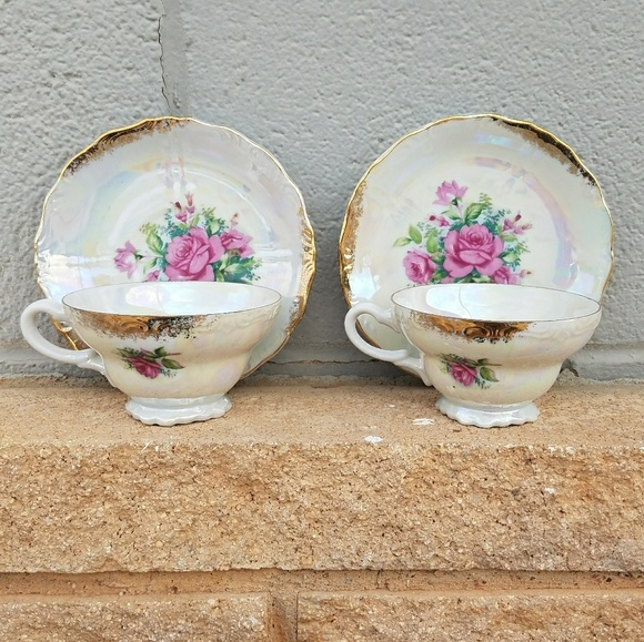 Nasco Other - Vintage Floral Teacups & saucers Del Coronado